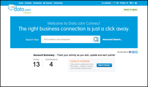 Salesforce Data.com Connect