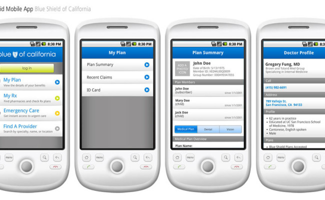 Android App Sample Screens